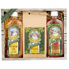Dárková sada Pivrnec – gel 100 ml, sůl 150 g a šampon 100 ml