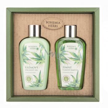 BOHEMIA Kosmetická sada - gel 250 ml a šampon 250 ml - konopí