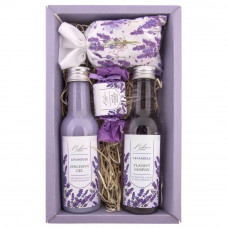 BOHEMIA Sada levandule premium – gel 200 ml, šampon 200 ml, mýdlo 30 g a sůl 150 g