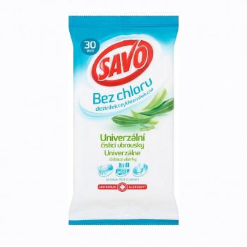 SAVO Univerzální dezinfekční ubrousky bez chlóru, EUKALYPTUS 30 ks