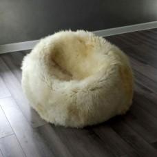 Sedací koule z ovčí kůže
