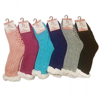 Spací ponožky - jednobarevné - 2701
