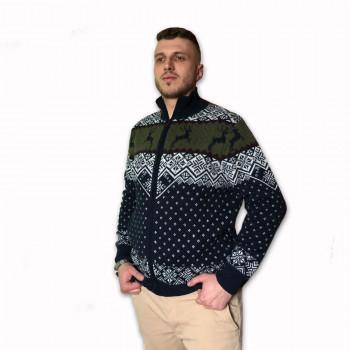 Vlněný svetr NORD zip