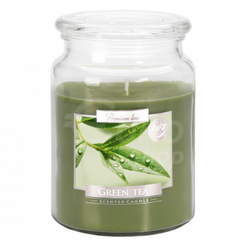 Vonná svíčka ve skle s víkem GREEN TEA 500 g