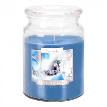 Vonná svíčka ve skle s víkem  ANTI TOBACCO 500 g