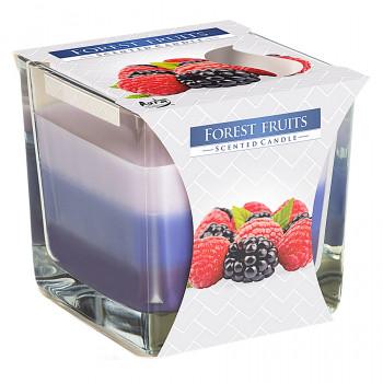 Tříbarevná vonná svíčka ve skle - Forest Fruits