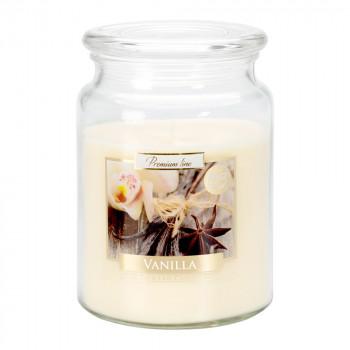 Vonná svíčka ve skle s víkem VANILLA 500 g