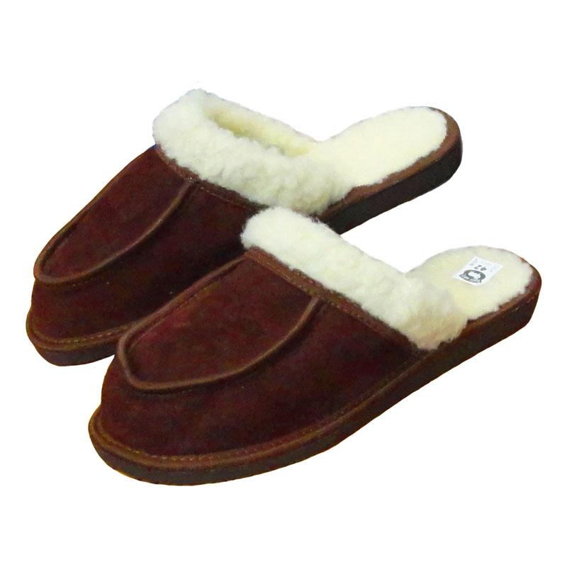 Dámské kožené pantofle s ovčí vlnou PARDÁL 37