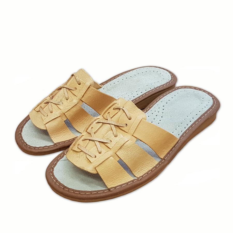 Dámské pantofle přírodní S10 40