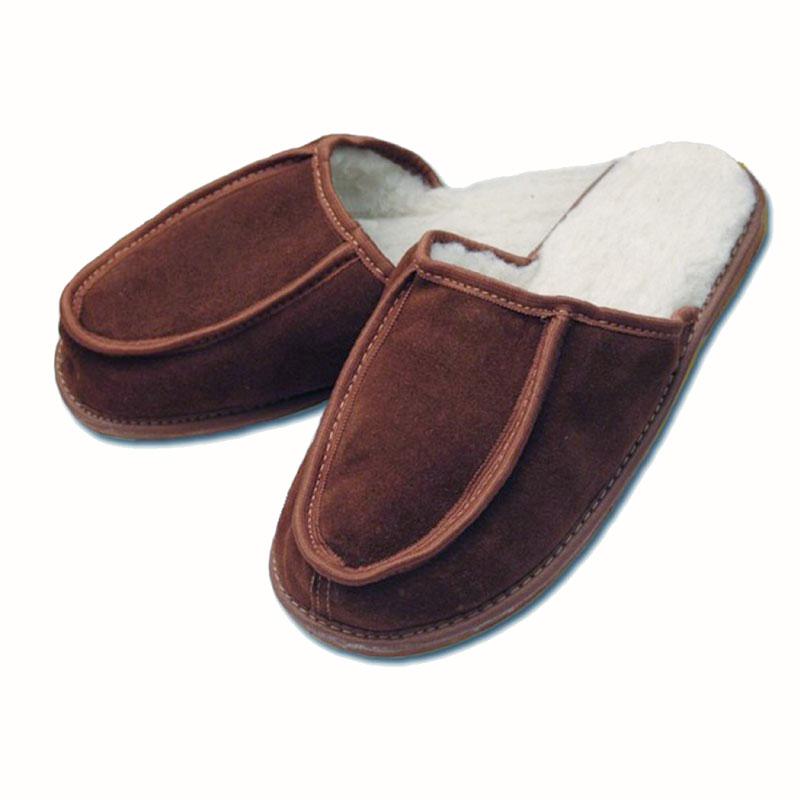 Pánské kožené pantofle s ovčí vlnou PARDÁL 44