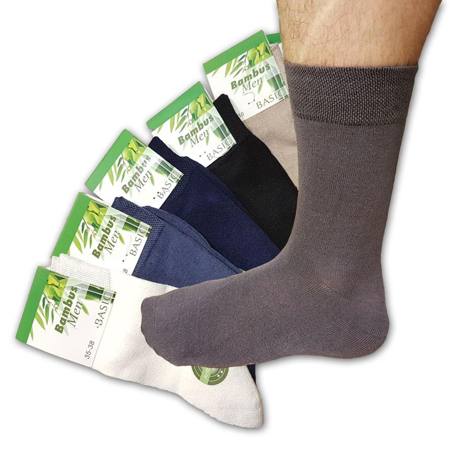 Bambusové ponožky 6ks