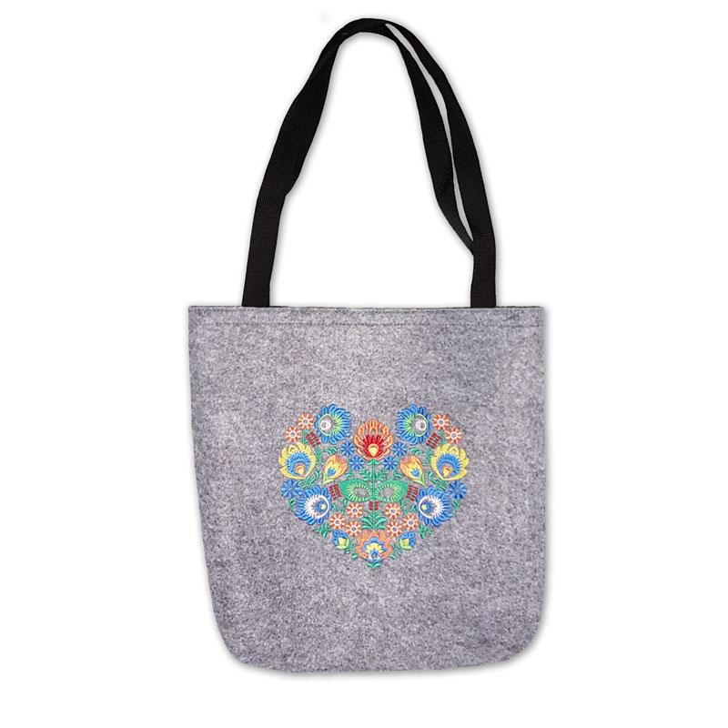 Filcová kabelka, suchý zip -