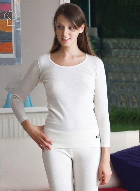 Funkční triko dámské dlouhý rukáv - bílé