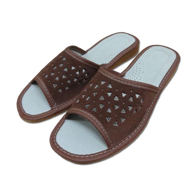 Dámské pantofle otevřené - SEMIŠOVÉ