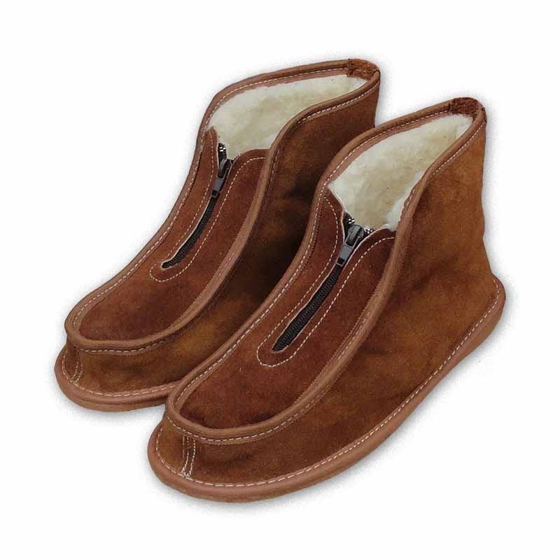 Pantofle kotníkové  na zip - 44