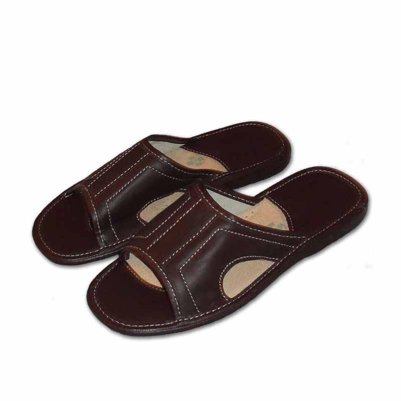 Pánské kožené pantofle - venkovní