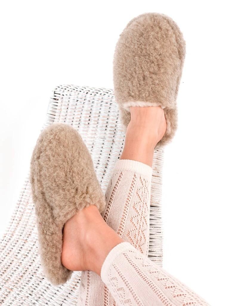 Vlněné pantofle, nízké červená 35-36