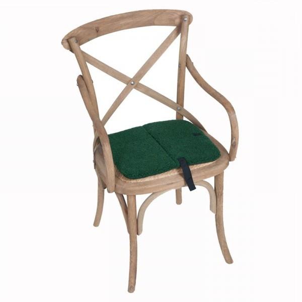 Turistický podsedák na židli z ovčí vlny -