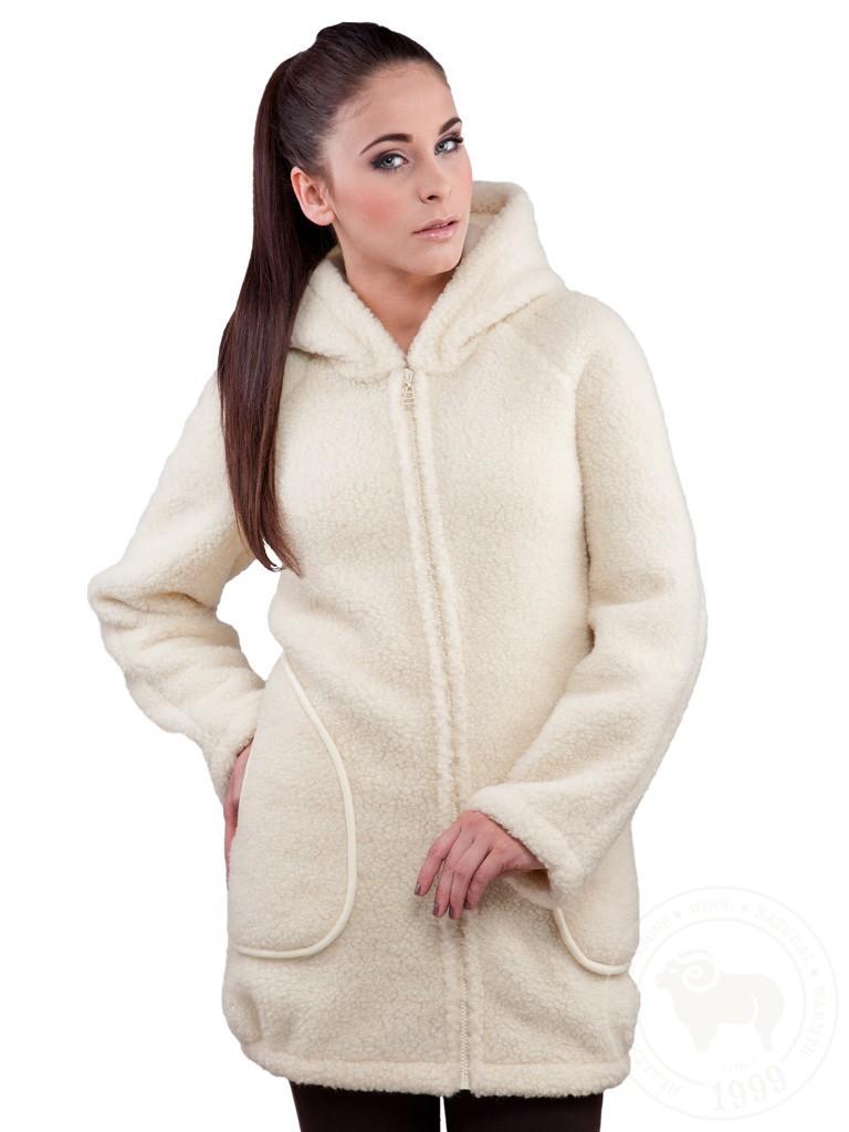 Vlněný kabát DOTI béžová S