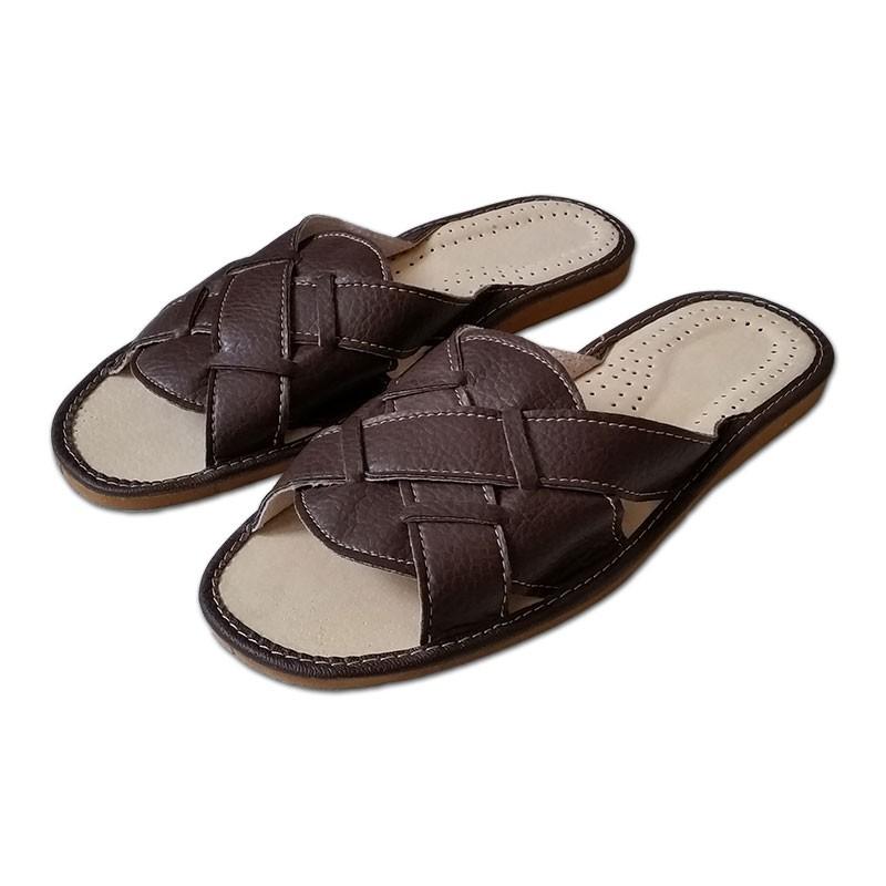 Pánské kožené pantofle - LETNÍ