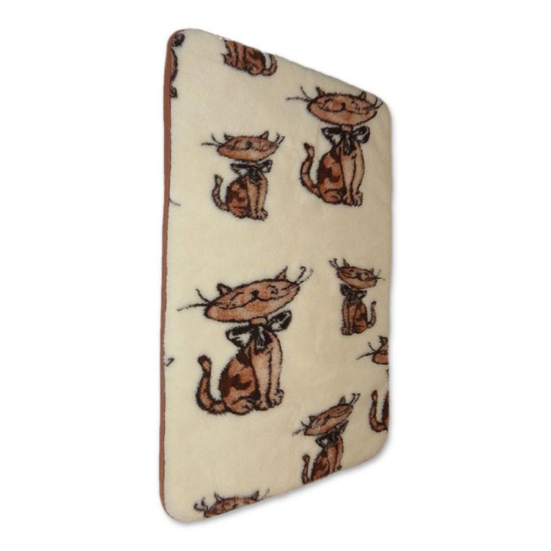 Dětská deka z ovčí vlny s kočkou 70x100cm  3401-57 100x70 cm